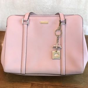 Large light pink Kate Spade bag
